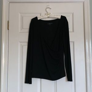 LOFT V Neck Long Sleeve Top